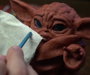 Sculpting Baby Yoda