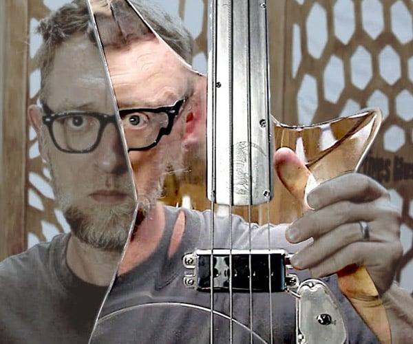 See-through Acrylic Bass Guitar
