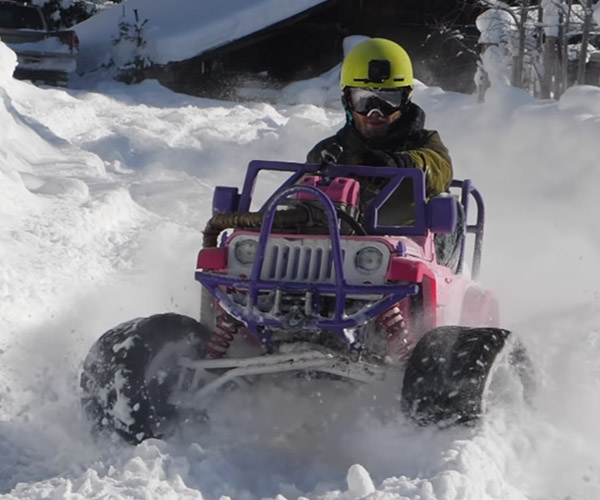 The Barbie Jeep Gets Upgraded