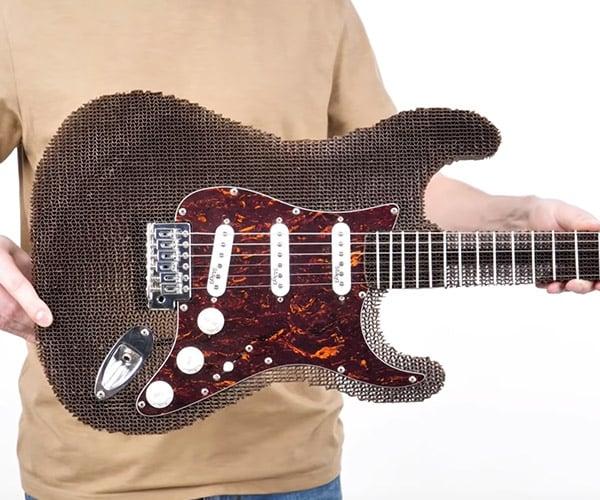 DIY Cardboard Stratocaster Guitar