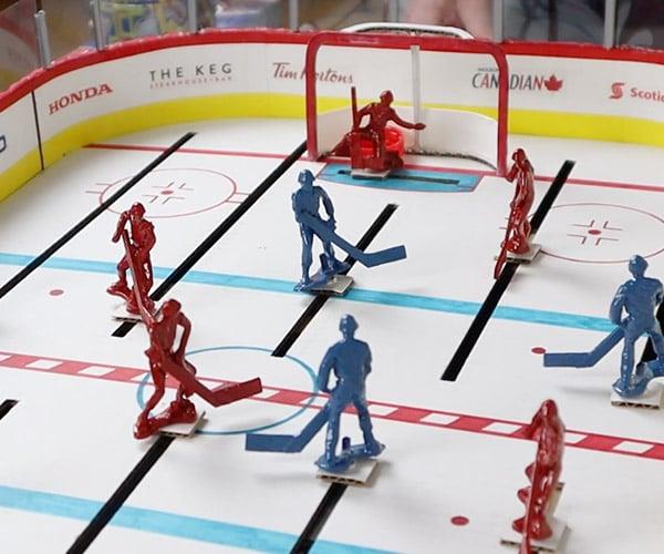 DIY Cardboard Table Hockey