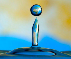 The Earth in a Water Droplet