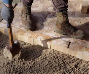 Making a Wood Brick Floor