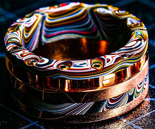 Making a Fordite and Gold Ring