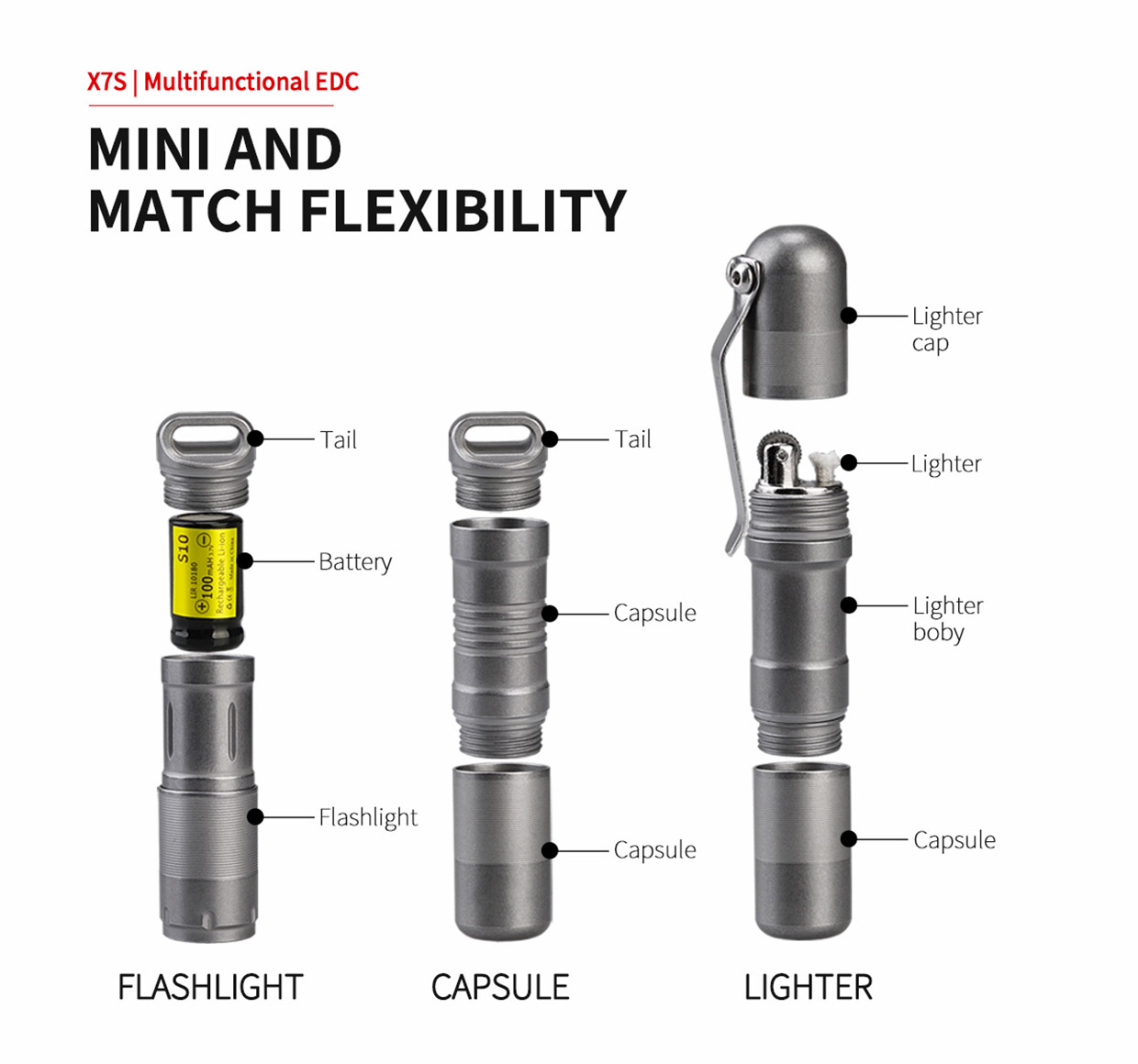 MecArmy X7S Flashlight & Lighter
