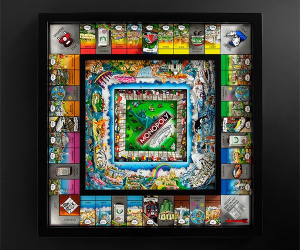 Monopoly Fazzino 3D World Edition