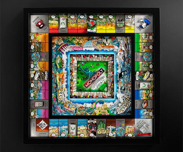 Monopoly Fazzino 3D World Edition