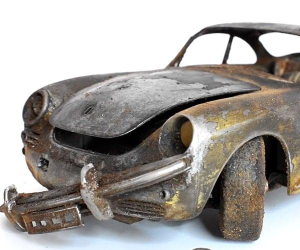 Restoring a Rusty Porsche Model