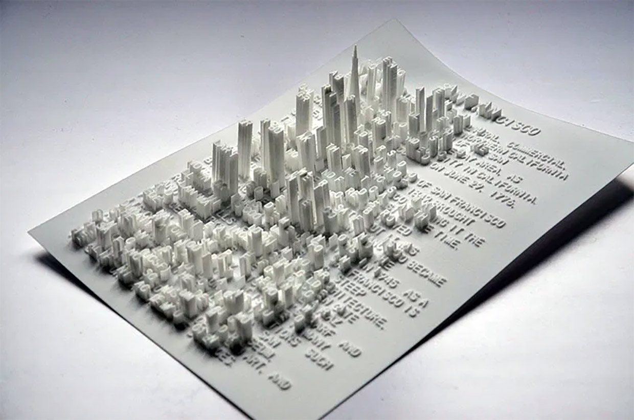 3D Printed Textscapes