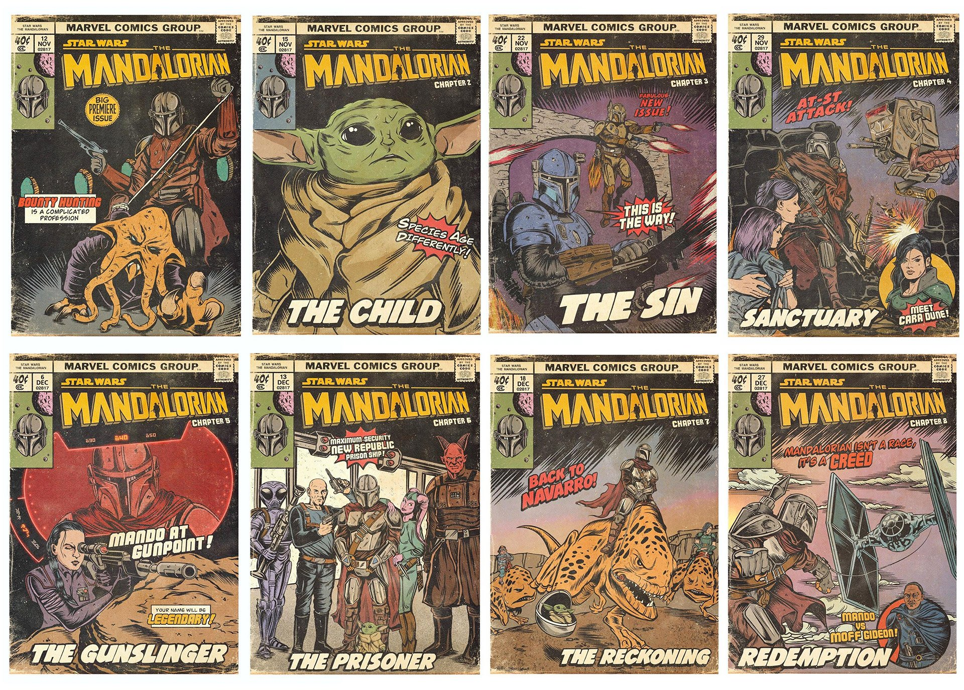The Mandalorian Vintage Comics