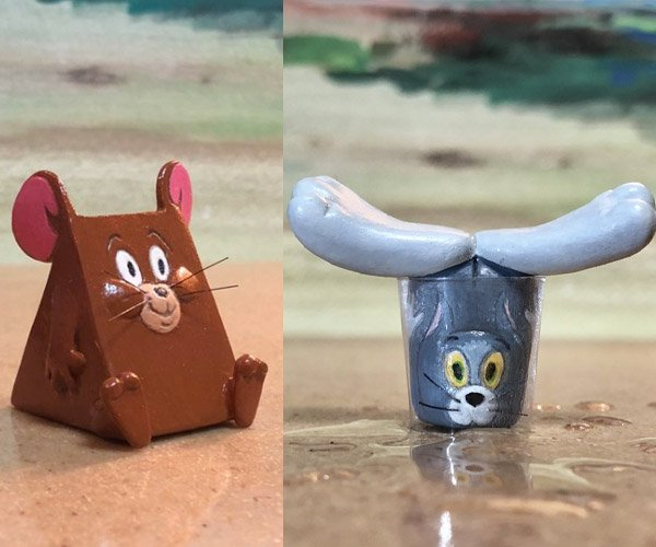 Tom and Jerry Mini Sculptures