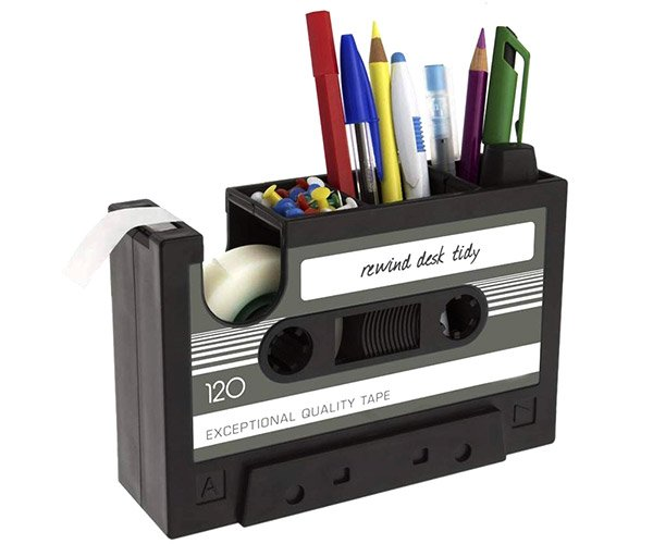 Cassette Tape Desk Caddy