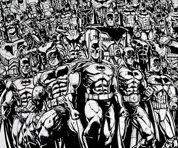 Drawing 100 Versions of Batman