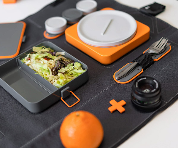 FoldEat Lunchbox and Mat