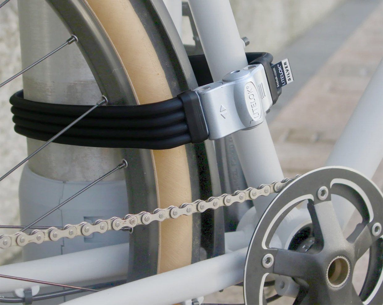 Litelok Flexi-U Silver Bike Lock