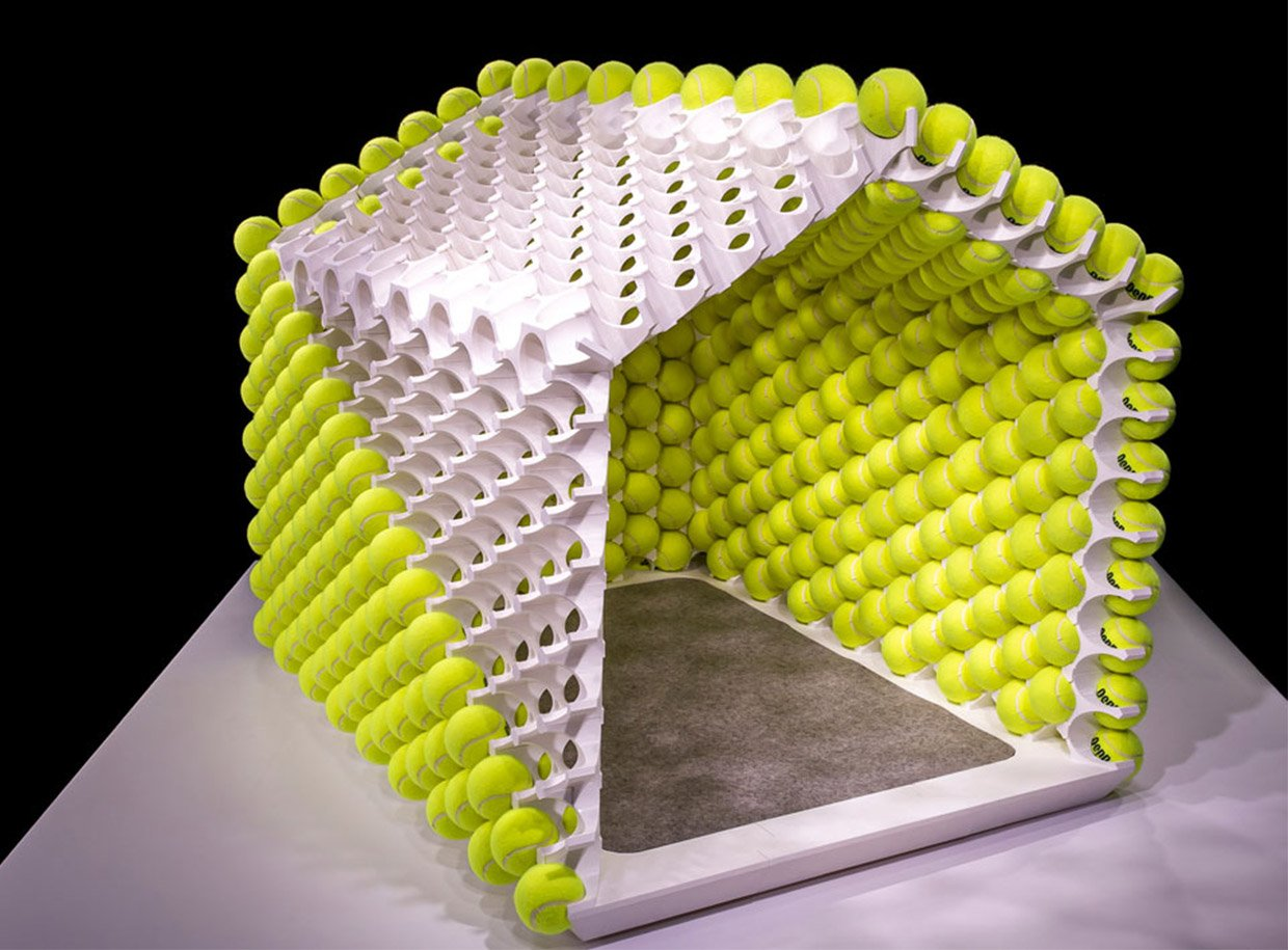 Tennis Ball Dog House