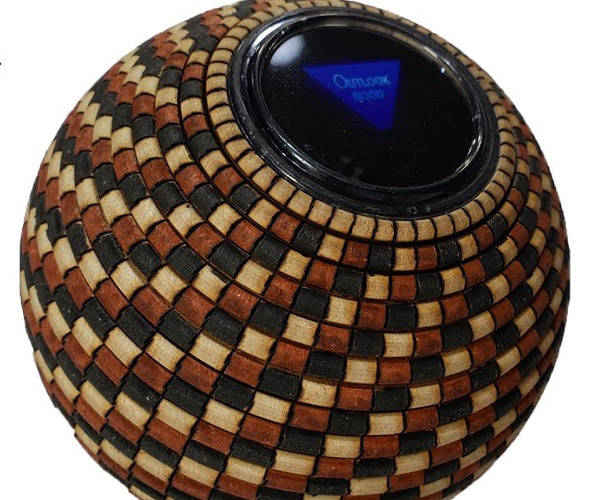 Wooden Magic 8-Ball
