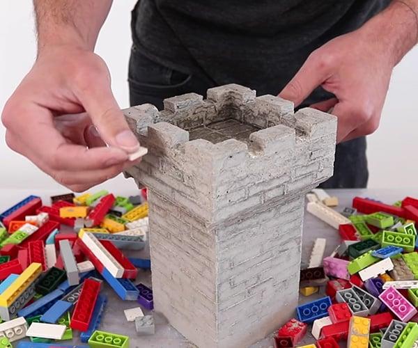 LEGO Concrete Casting