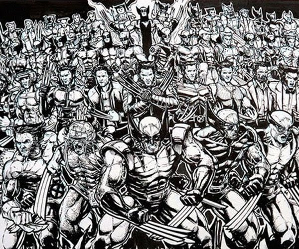 Drawing 100 Versions of Wolverine