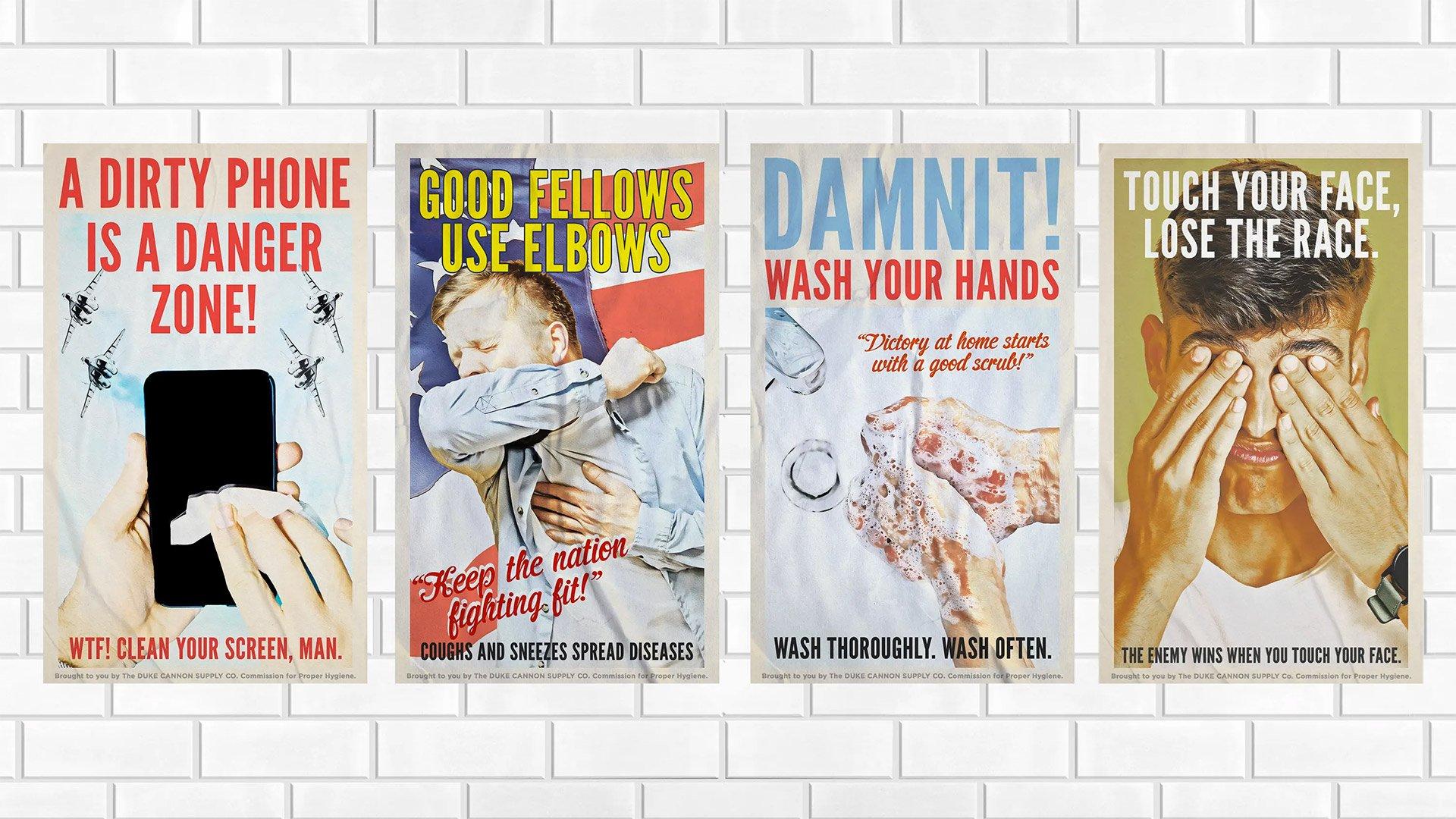 Duke Cannon PSA Posters