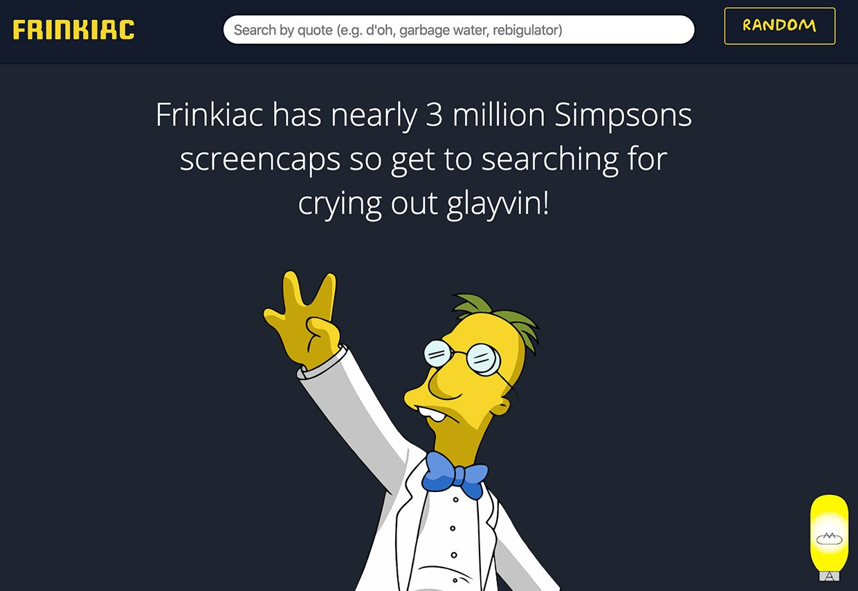 Frinkiac Simpsons Database