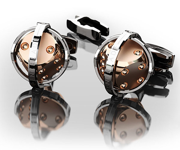 Gyroscopic Dice Cufflinks