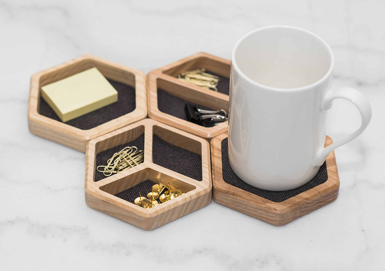 Hexagon Desk Organizers