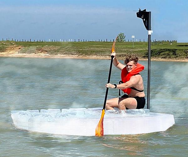 Ice Boat vs. Hot Lake