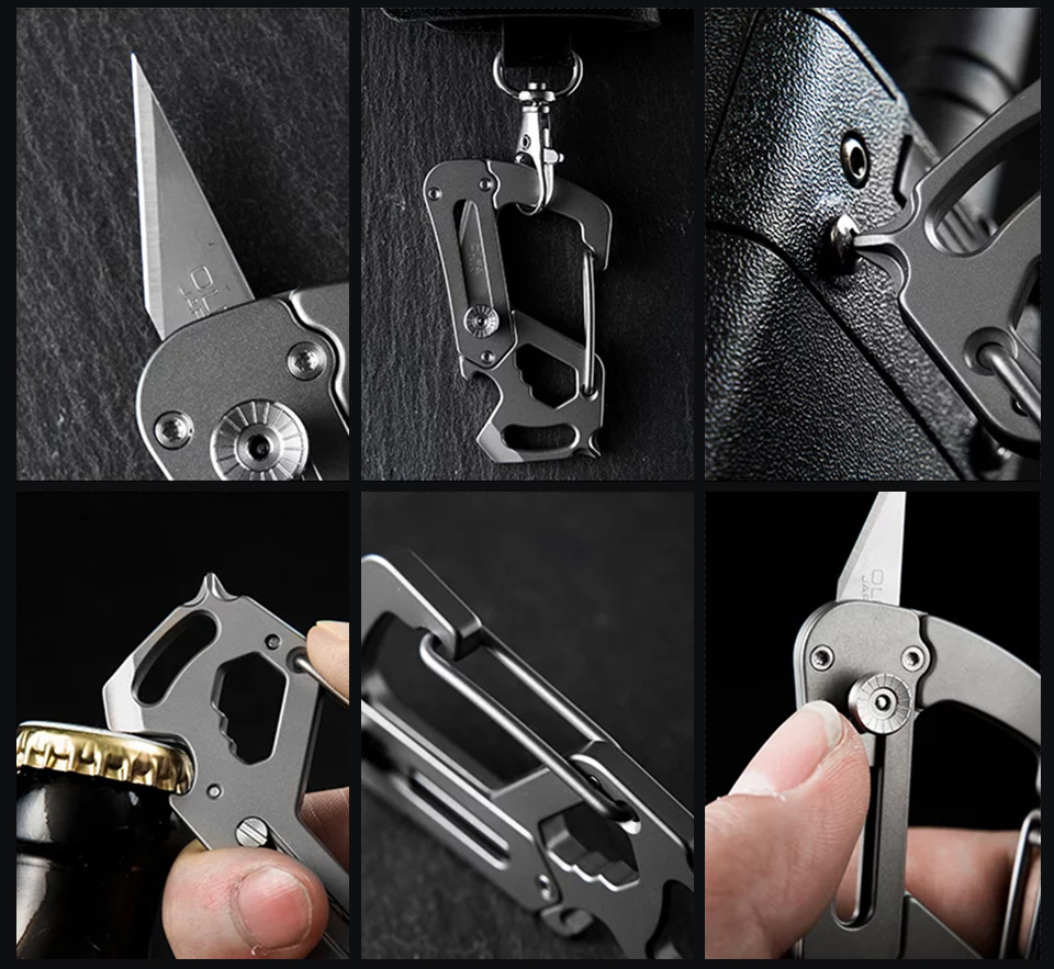Carabiner Multitool Knife