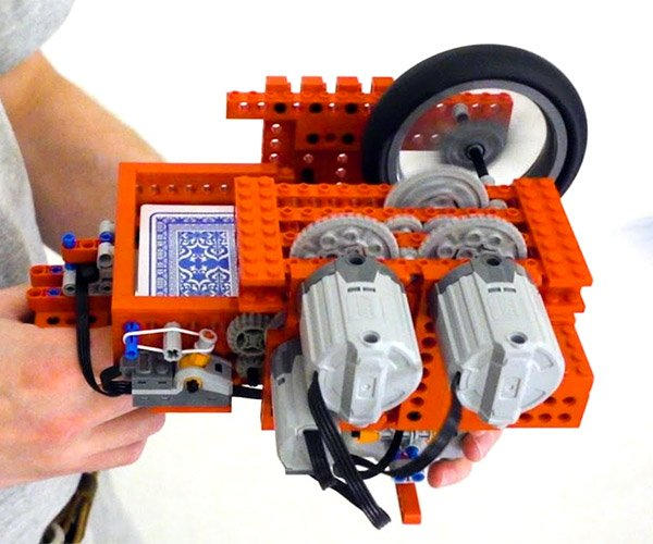 LEGO Playing Card Gun