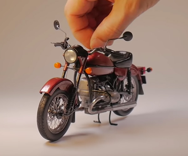 3D Drawing a Motorcycle