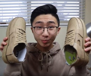 Making Cardboard Nike Sneakers