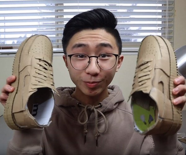 Making Cardboard Nike Sneakers