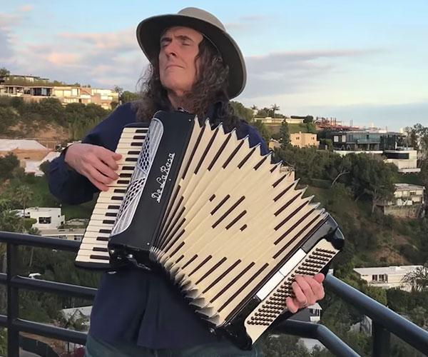 Weird Al: Alone on His Balcony