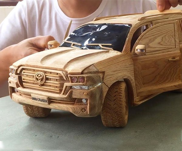 Carving a Land Cruiser