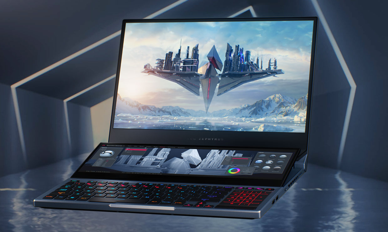 The Amazing ASUS ROG Zephyrus Duo 15 Has a Flip-up Second Screen