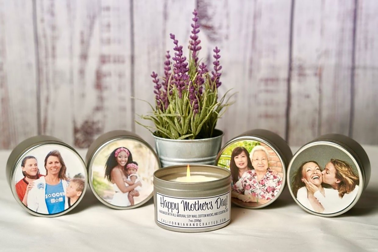 Mother's Day Photo Candles