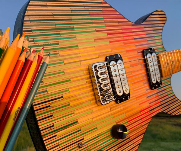 Colored Pencil Guitar 3.0