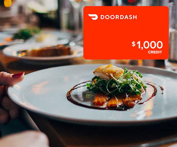 $1,000 DoorDash Giveaway