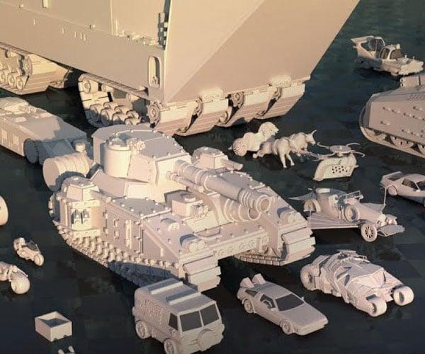 Fictional Land Vehicle Comparison