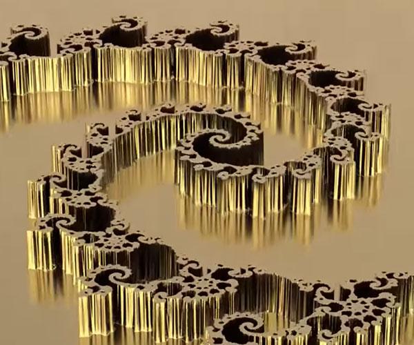 Gold Fractal Zoom