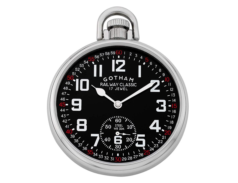 Gotham Railroad Pocket Watch