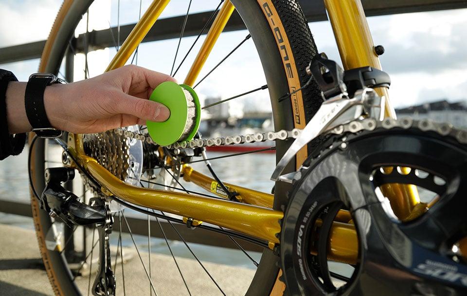 Green Disc Bike Chain Lubricator