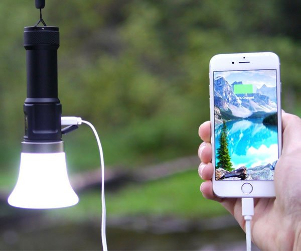 Lantern Black Multifunction Light