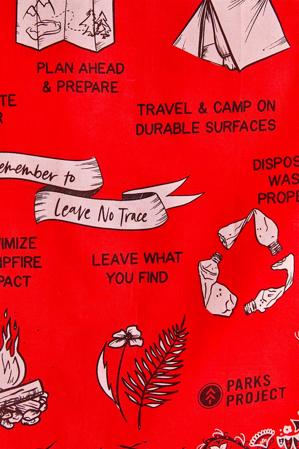 Leave No Trace Bandana Tapestry