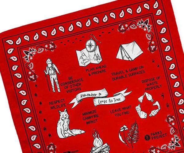Leave No Trace Bandana Tapestry