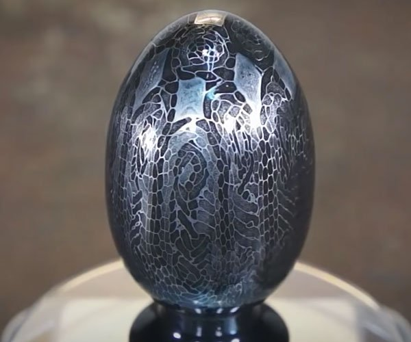 Making a Damascus Easter Egg