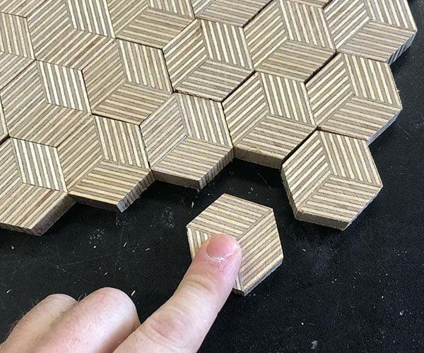 Making Hexagon Plywood Patterns