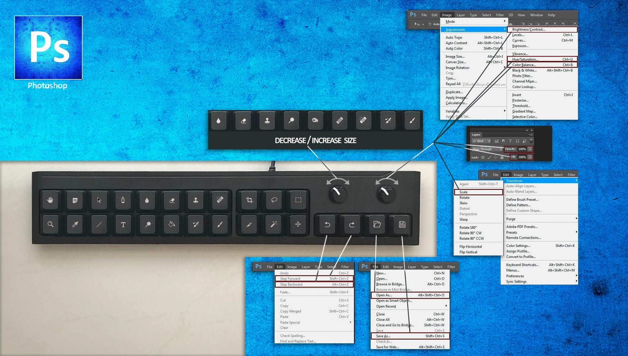 Photoshop Keypad