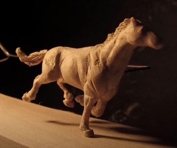 Carved Horse Stop Motion